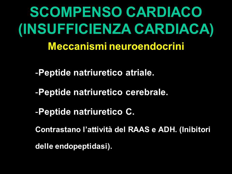 SCOMPENSO CARDIACO (INSUFFICIENZA CARDIACA) Meccanismi neuroendocrini -Peptide natriuretico atriale.