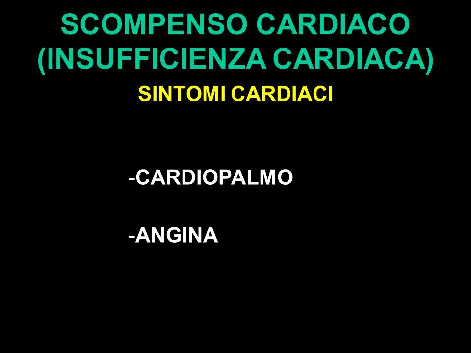SCOMPENSO CARDIACO (INSUFFICIENZA CARDIACA) SINTOMI CARDIACI -CARDIOPALMO -ANGINA