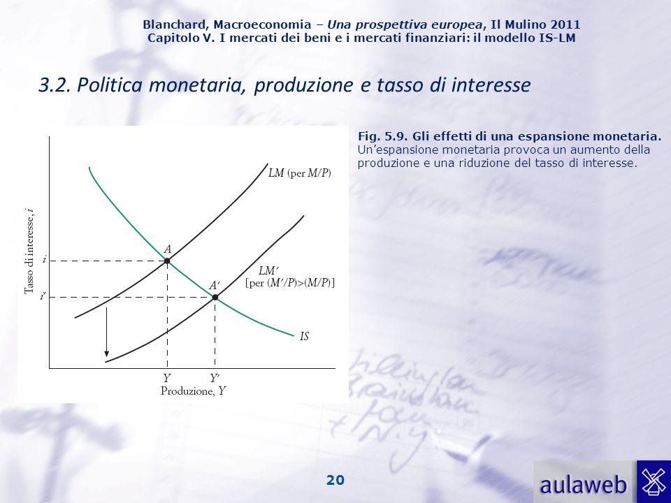 Blanchard, Macroeconomia – Una prospettiva europea, Il Mulino 2011 Capitolo V. I mercati dei beni e i mercati finanziari: il modello IS-LM 20 3.2. Pol