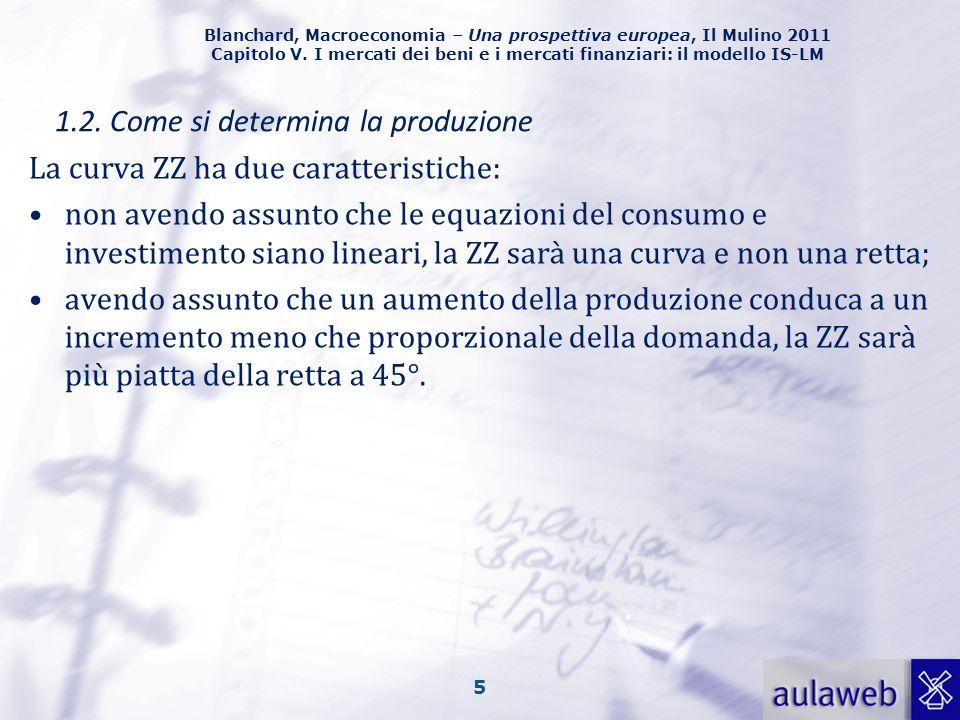 Blanchard, Macroeconomia – Una prospettiva europea, Il Mulino 2011 Capitolo V. I mercati dei beni e i mercati finanziari: il modello IS-LM 5 1.2. Come