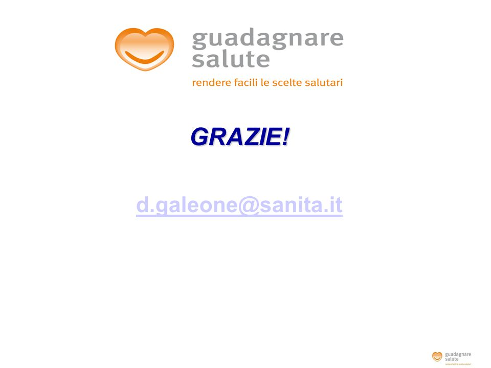 GRAZIE! d.galeone@sanita.it