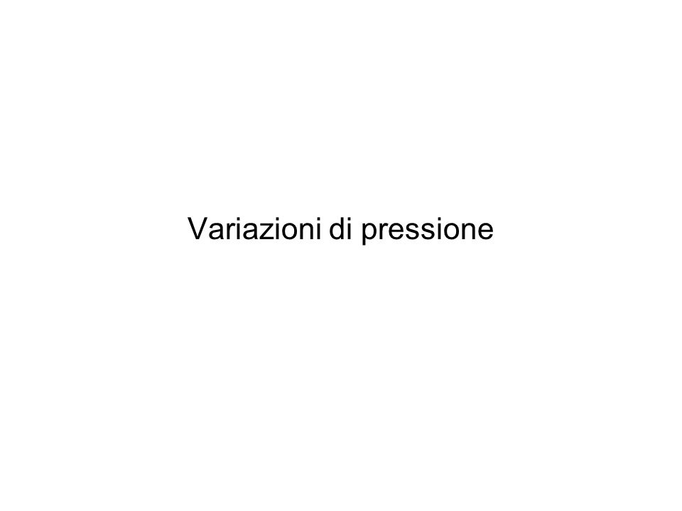 Variazioni di pressione