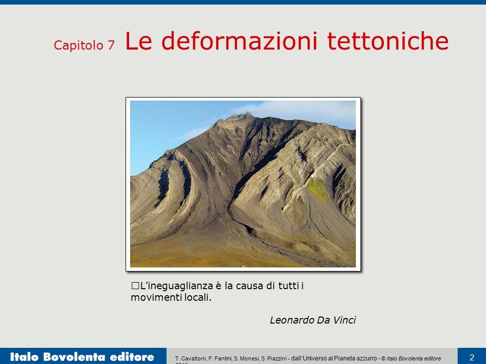 T. Cavattoni, F. Fantini, S. Monesi, S. Piazzini - dall'Universo al Pianeta azzurro - © Italo Bovolenta editore 2010 2 Capitolo 7 Le deformazioni tett