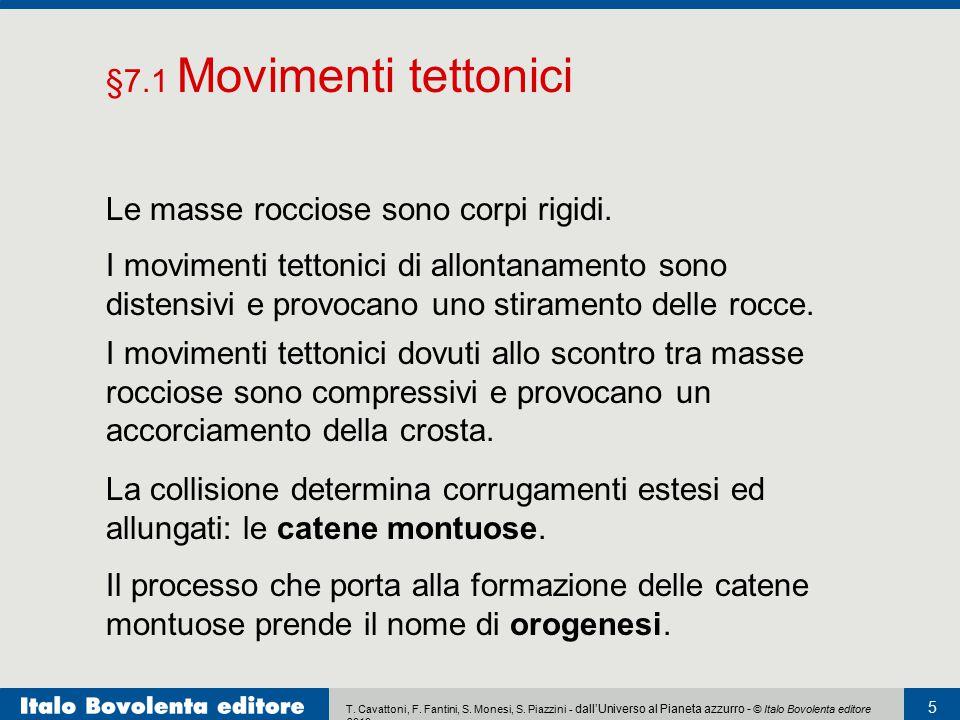 T. Cavattoni, F. Fantini, S. Monesi, S. Piazzini - dall'Universo al Pianeta azzurro - © Italo Bovolenta editore 2010 5 Le masse rocciose sono corpi ri