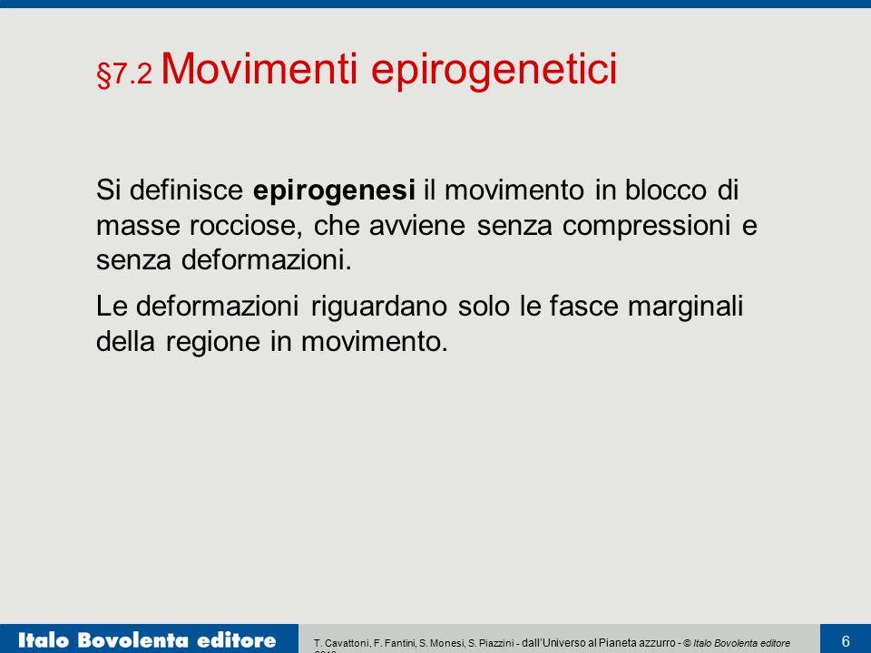 T. Cavattoni, F. Fantini, S. Monesi, S. Piazzini - dall'Universo al Pianeta azzurro - © Italo Bovolenta editore 2010 6 Si definisce epirogenesi il mov