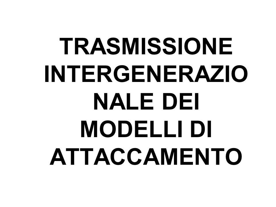 TRASMISSIONE INTERGENERAZIO NALE DEI MODELLI DI ATTACCAMENTO