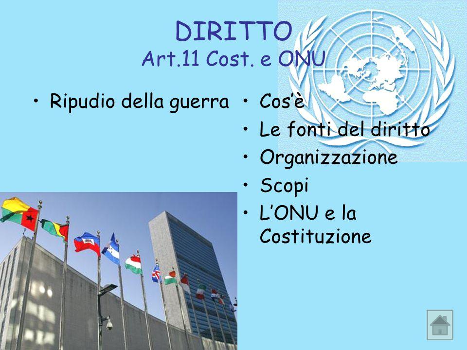 DIRITTO Art.11 Cost.