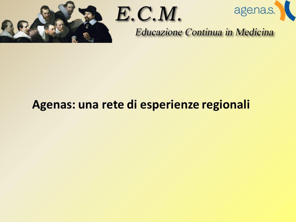 Agenas: una rete di esperienze regionali