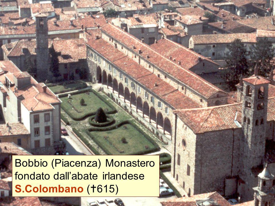 Bobbio (Piacenza) Monastero fondato dall'abate irlandese S.Colombano (  615)