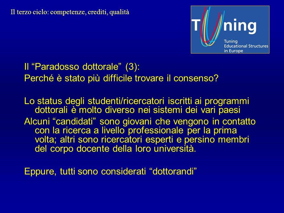 """Il """"Paradosso dottorale"""" (3): Perché è stato più difficile trovare il consenso? Lo status degli studenti/ricercatori iscritti ai programmi dottorali è"""