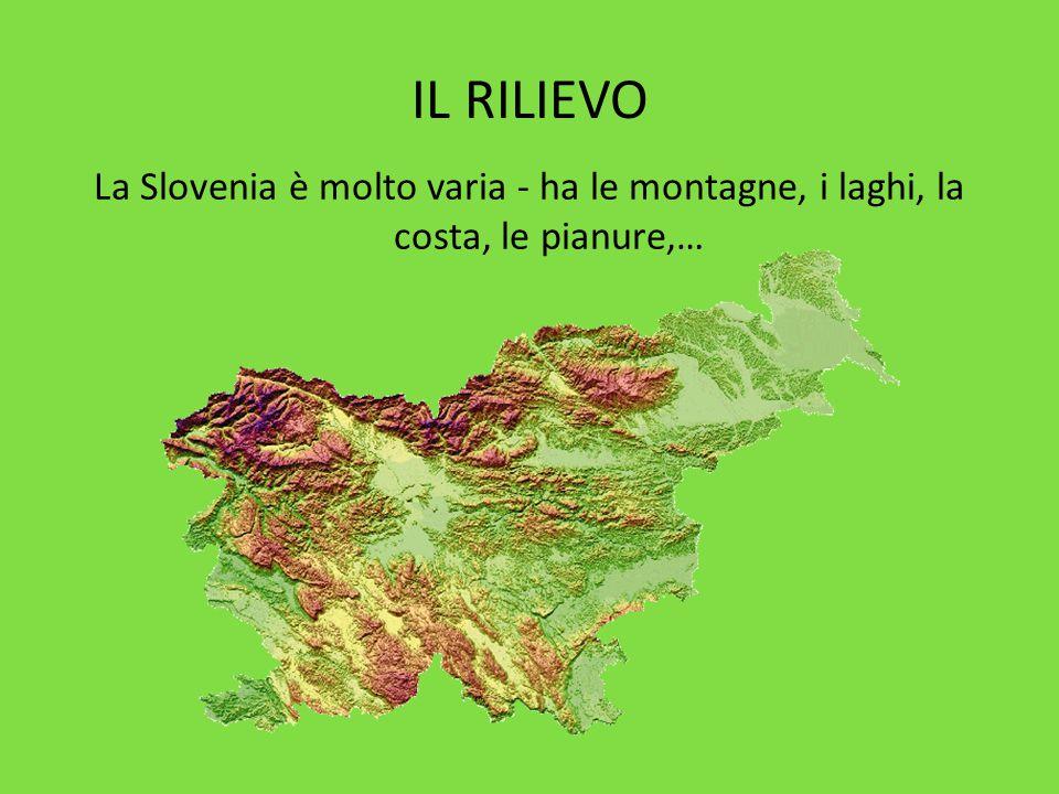 IL RILIEVO La Slovenia è molto varia - ha le montagne, i laghi, la costa, le pianure,…