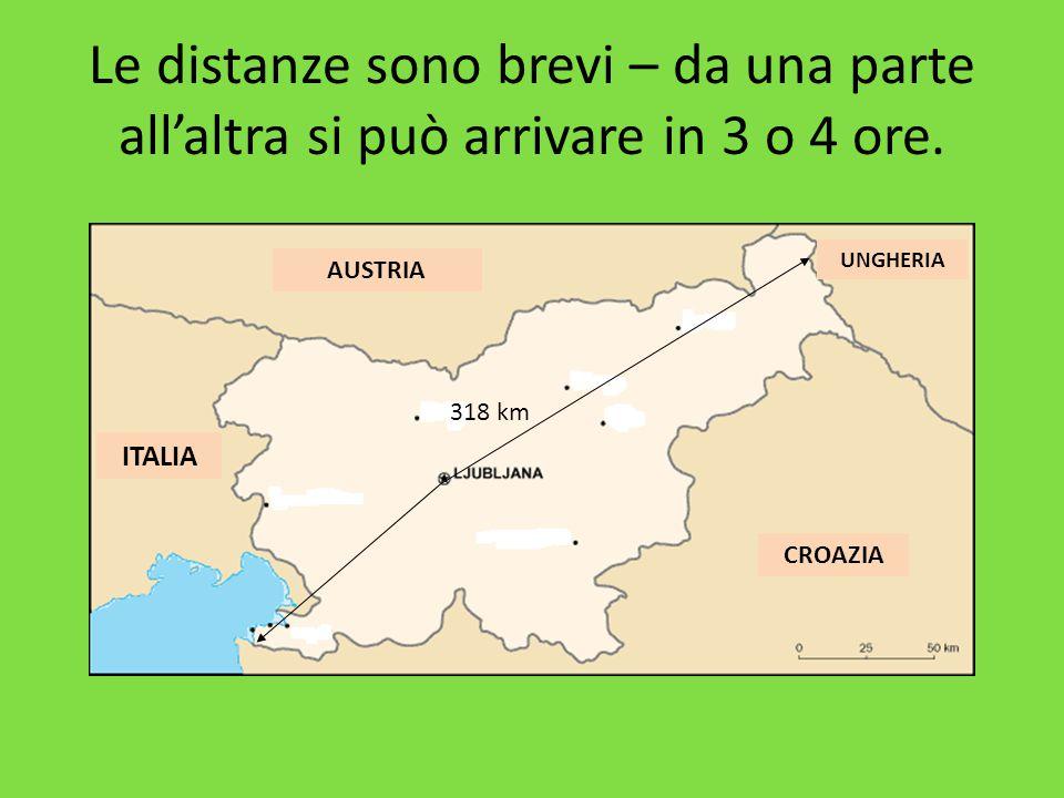 Le distanze sono brevi – da una parte all'altra si può arrivare in 3 o 4 ore. 318 km ITALIA AUSTRIA UNGHERIA CROAZIA
