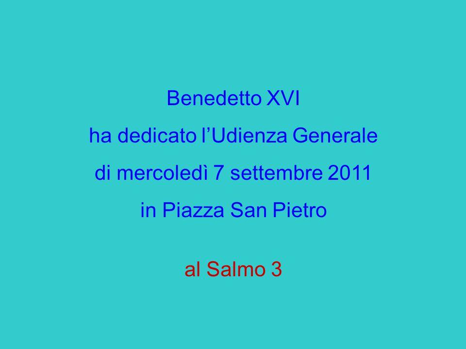 Benedetto XVI ha dedicato l'Udienza Generale di mercoledì 7 settembre 2011 in Piazza San Pietro al Salmo 3