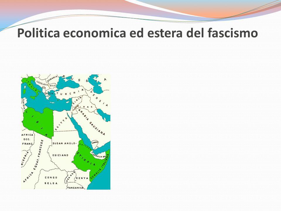 Politica economica ed estera del fascismo