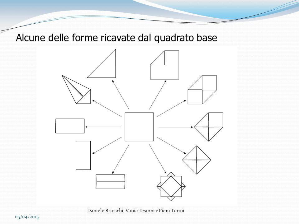Alcune delle forme ricavate dal quadrato base 05/04/2015 Daniele Brioschi, Vania Testoni e Piera Turini
