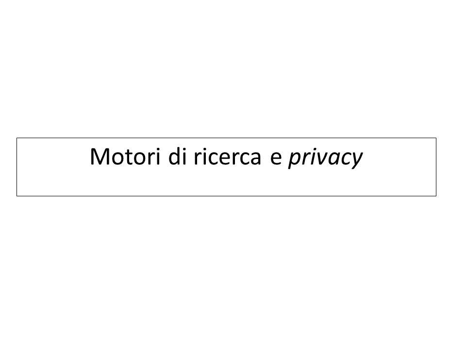 Motori di ricerca e privacy