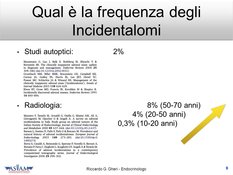 Riccardo G. Gheri - Endocrinologo Incidentalomi surrenalici 10