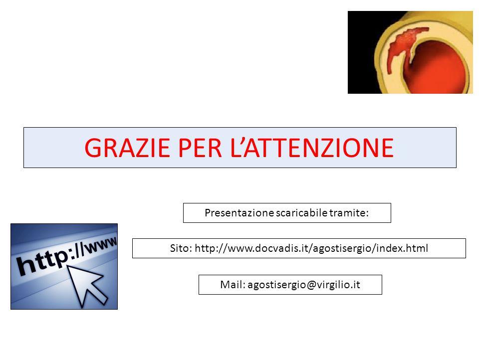 GRAZIE PER L'ATTENZIONE Sito: http://www.docvadis.it/agostisergio/index.html Mail: agostisergio@virgilio.it Presentazione scaricabile tramite: