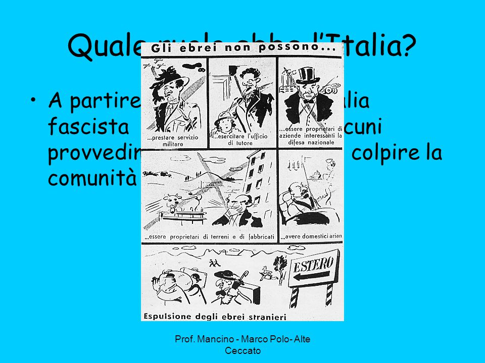 Prof.Mancino - Marco Polo- Alte Ceccato Quale ruolo ebbe l'Italia.