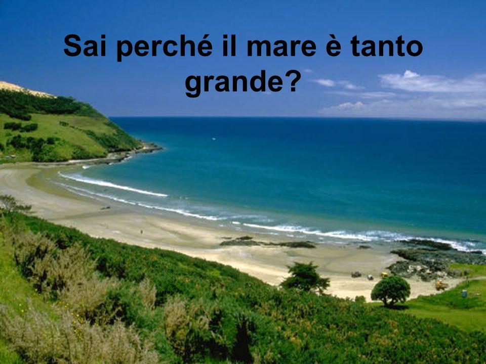 Sai perché il mare è tanto grande?