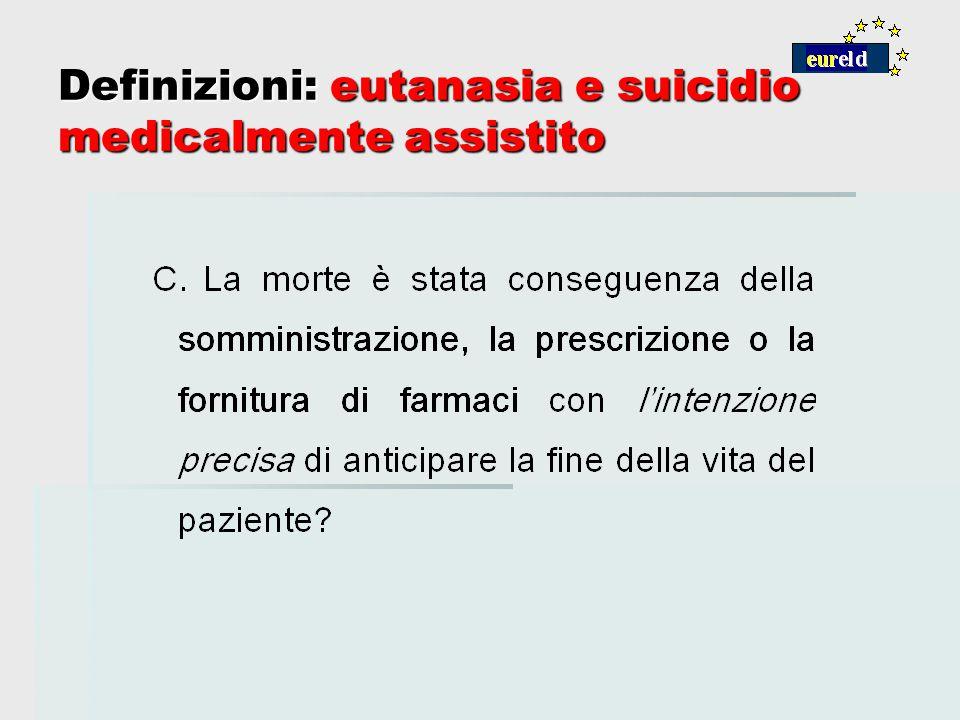 Definizioni: eutanasia e suicidio medicalmente assistito
