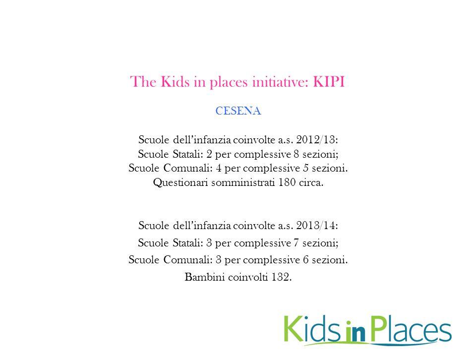 The Kids in places initiative: KIPI CESENA Scuole dell'infanzia coinvolte a.s.