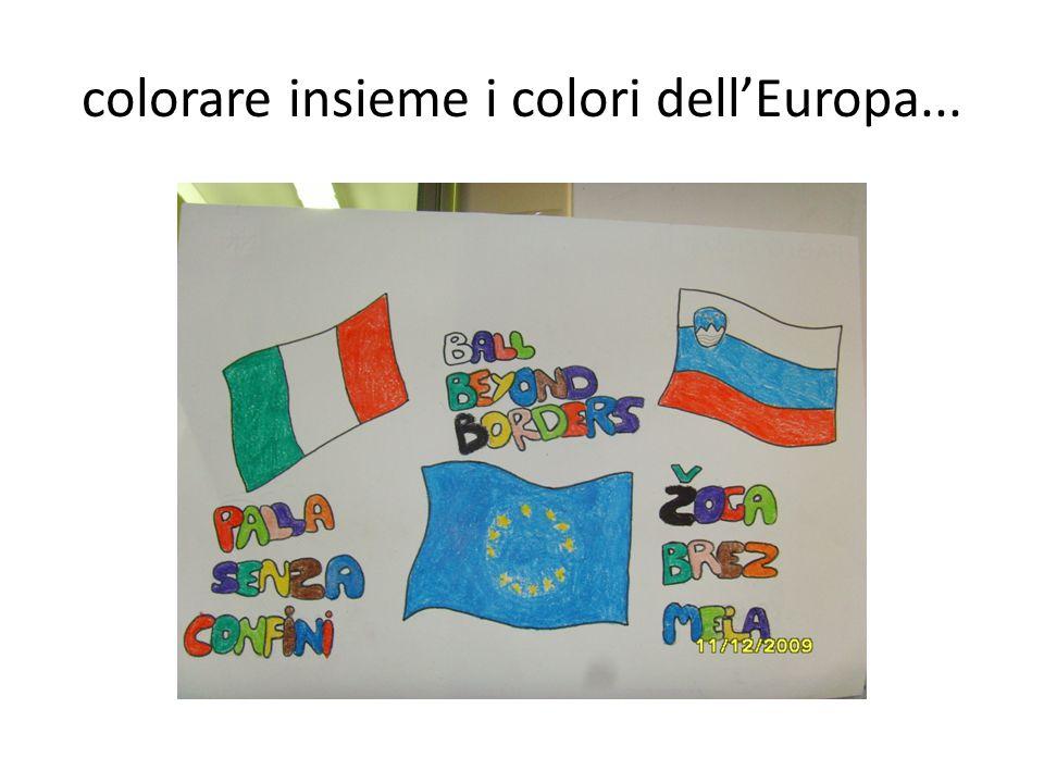 colorare insieme i colori dell'Europa...