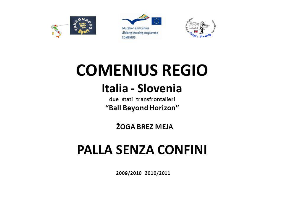 COMENIUS REGIO Italia - Slovenia Regione Friuli Venezia Giulia - Direzione Scolastica Regionale - Regione Autonoma FVG-Assessorato all'Istruzione, Formazione e Cultura - Istituto Comprensivo di Tavagnacco - Istituto Tecnico Commerciale O.