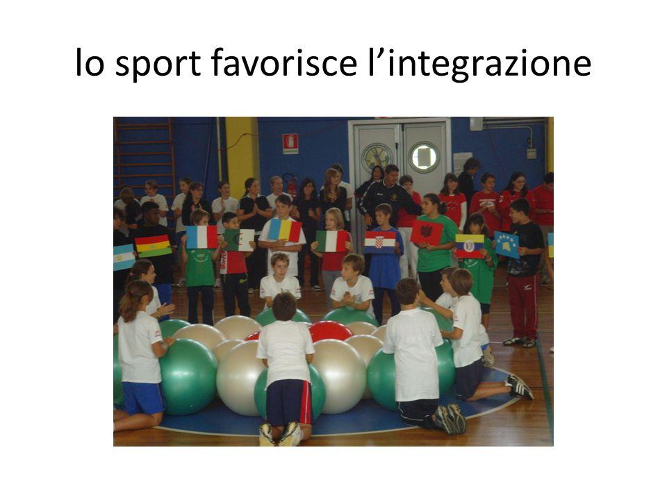 lo sport favorisce l'integrazione