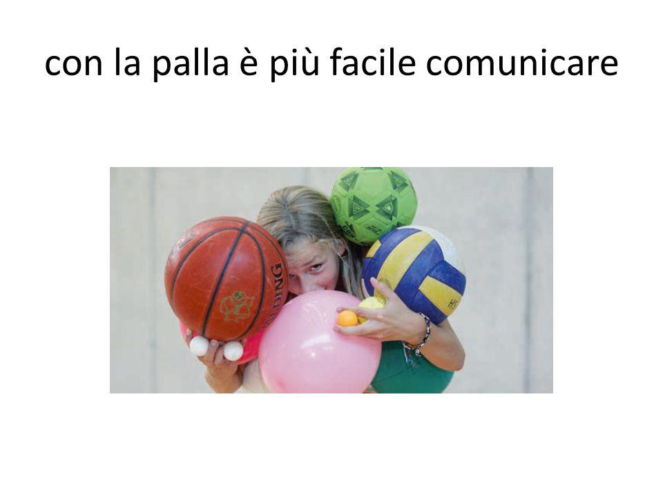 con la palla è più facile comunicare