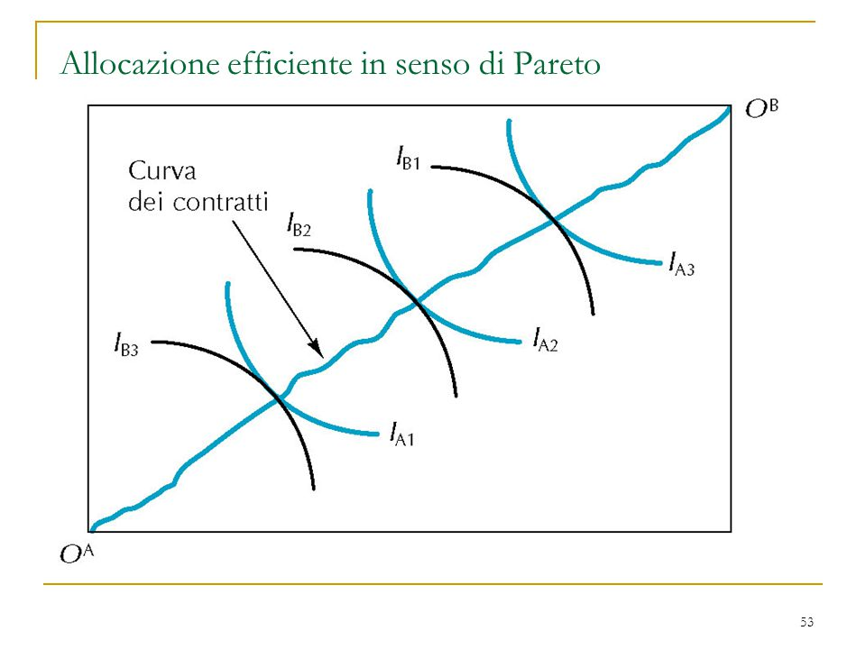 53 Allocazione efficiente in senso di Pareto
