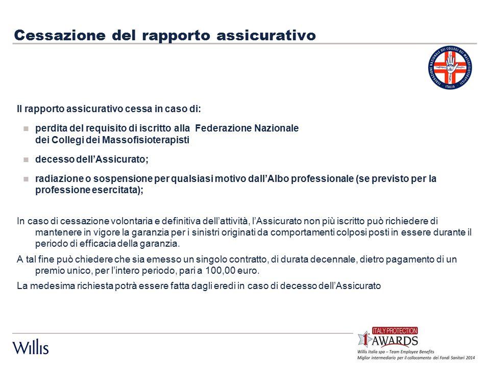 Massimale di garanzia – Scoperto - Premi L'assicurazione è prestata per ogni Assicurato, fino alla concorrenza del massimale di € 500.000,00 per ogni sinistro, elevato ad € 1.000.000,00 per annualità assicurativa.