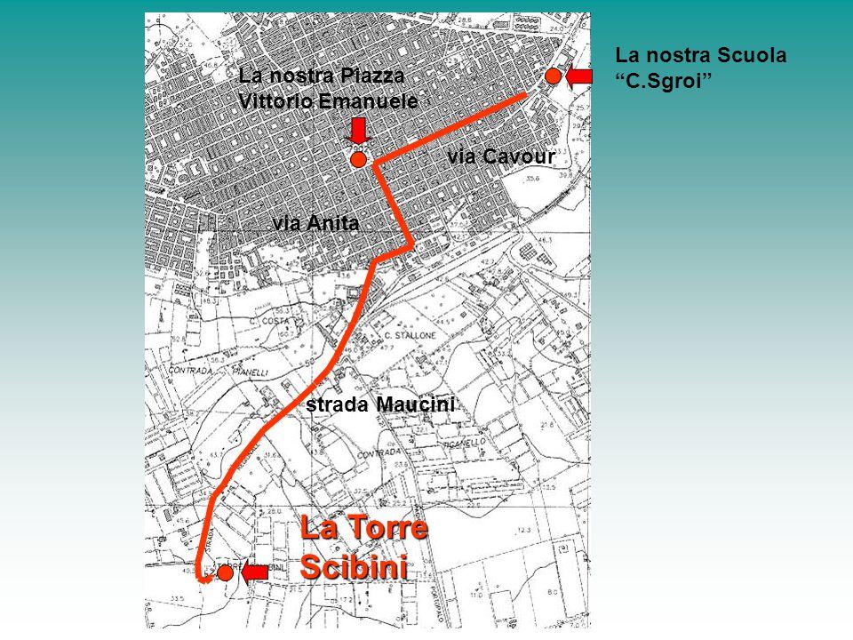 """La nostra Scuola """"C.Sgroi"""" La nostra Piazza Vittorio Emanuele La Torre Scibini via Cavour via Anita strada Maucini"""