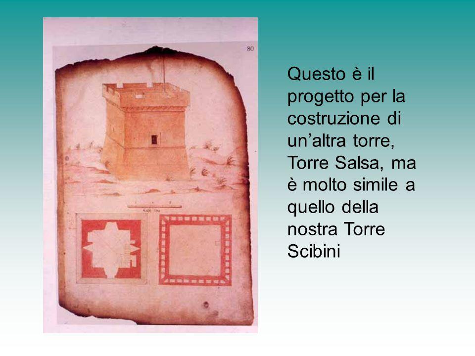 Questo è il progetto per la costruzione di un'altra torre, Torre Salsa, ma è molto simile a quello della nostra Torre Scibini