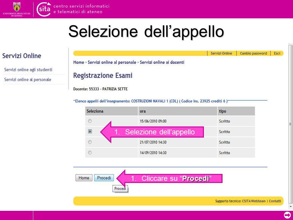 ➲ Registrazione on-line Nuova sessione di lavoro Cliccare su Nuova sessione di lavoro