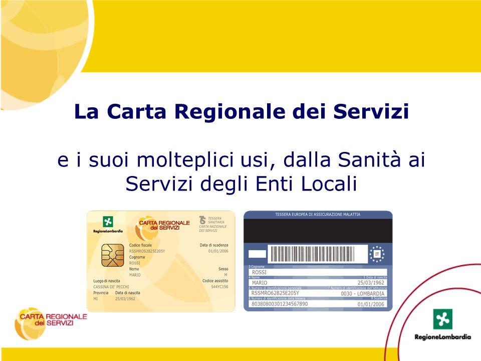 La Carta Regionale dei Servizi e i suoi molteplici usi, dalla Sanità ai Servizi degli Enti Locali