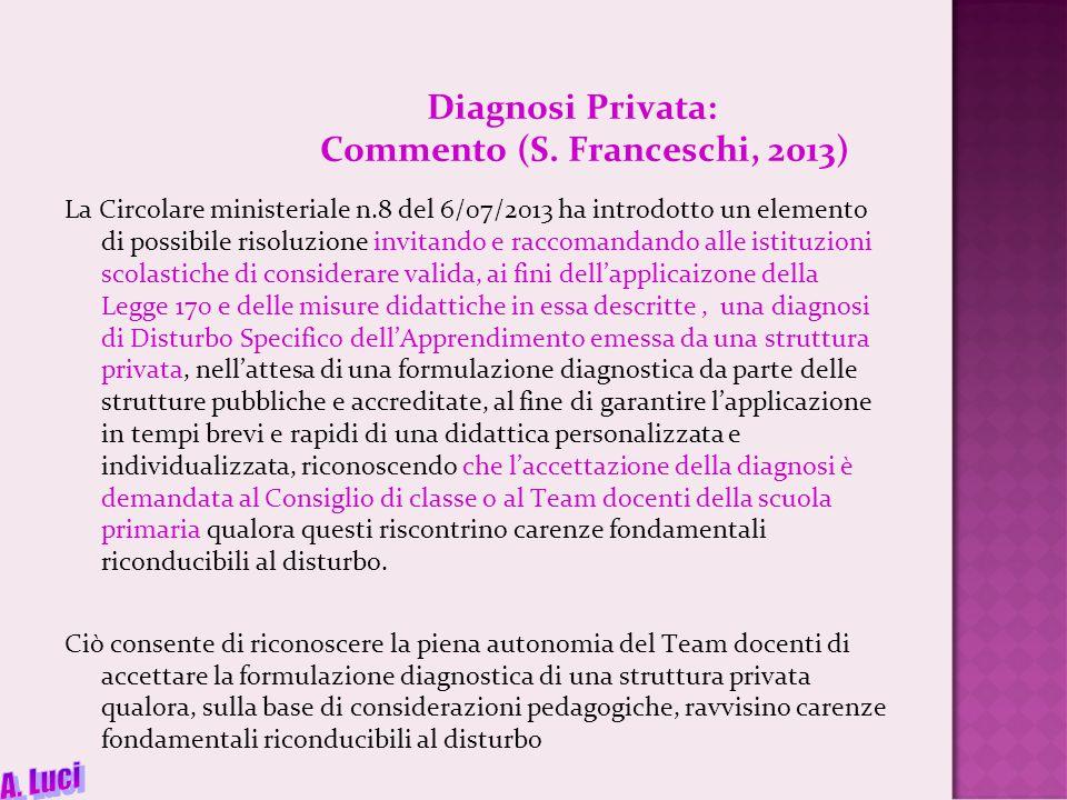 Diagnosi Privata: Commento (S.