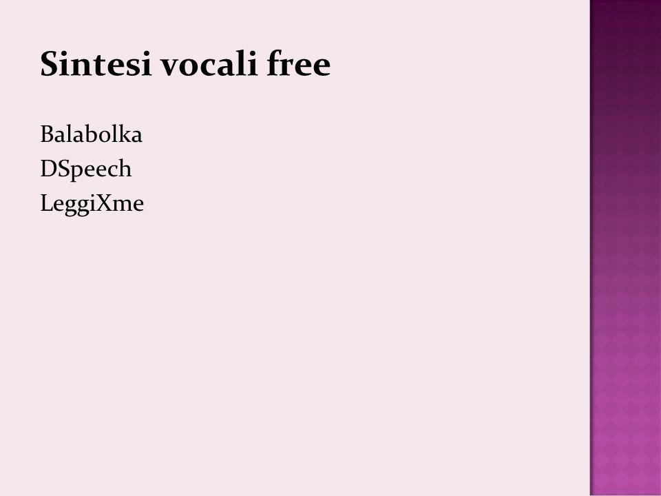 Sintesi vocali free Balabolka DSpeech LeggiXme