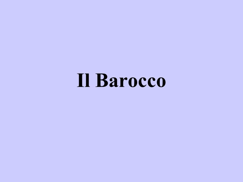 Il Barocco