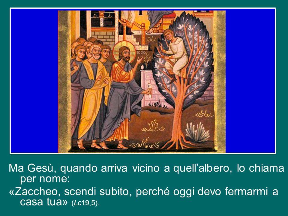 Zaccheo stesso non sa il senso profondo del suo gesto, non sa perché fa questo ma lo fa; nemmeno osa sperare che possa essere superata la distanza che lo separa dal Signore; si rassegna a vederlo solo di passaggio.