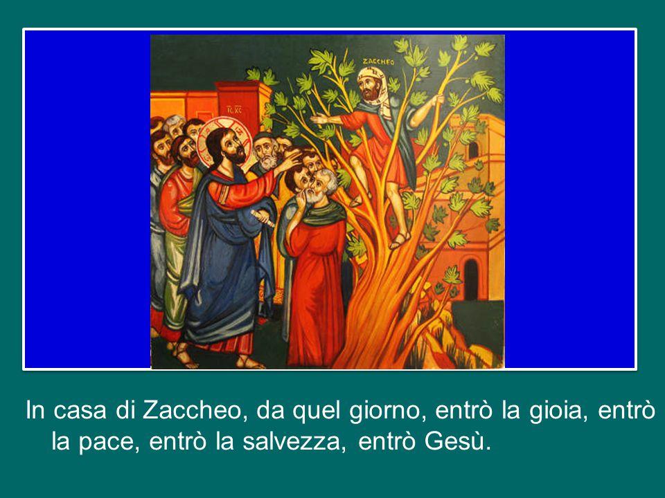 E Gesù va nella casa di Zaccheo, suscitando le critiche di tutta la gente di Gerico (perché anche a quel tempo si chiacchierava tanto!), che diceva: – Ma come.