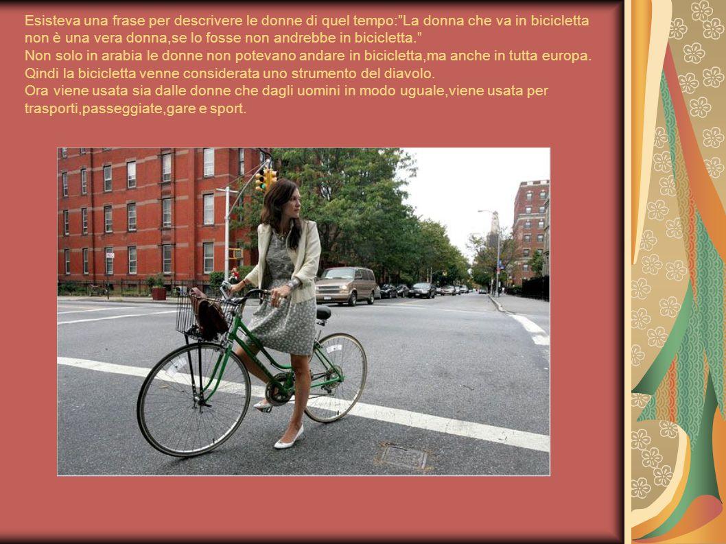 """Esisteva una frase per descrivere le donne di quel tempo:""""La donna che va in bicicletta non è una vera donna,se lo fosse non andrebbe in bicicletta."""""""