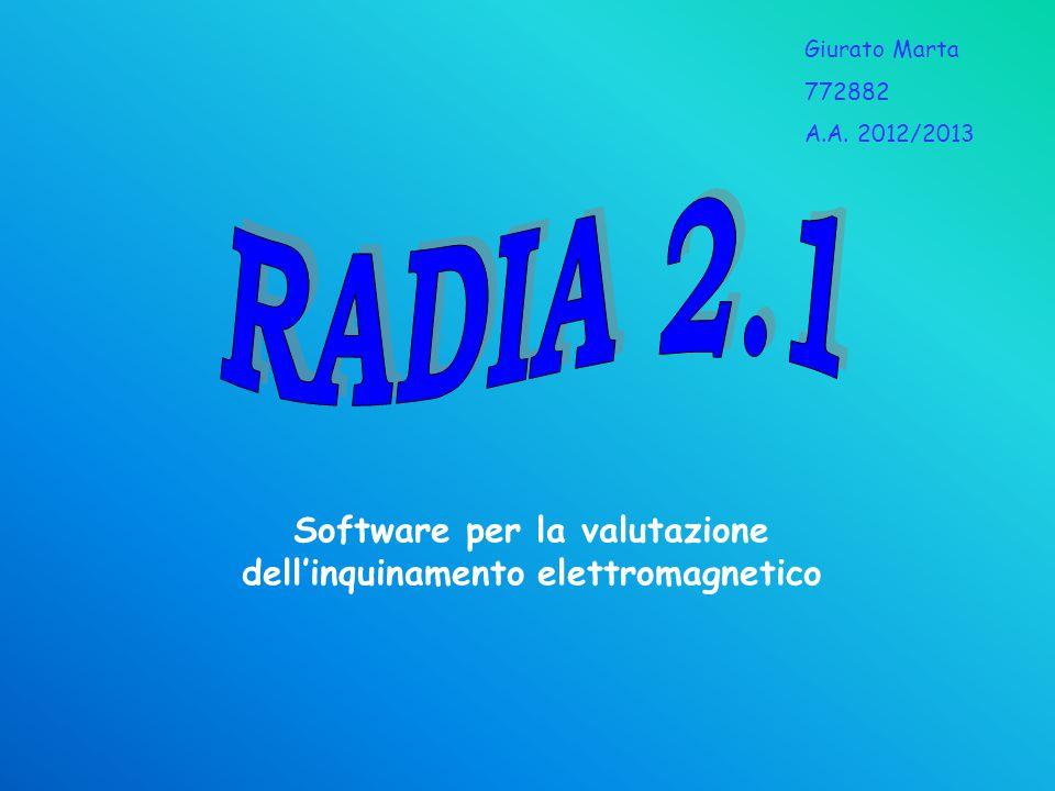 Software per la valutazione dell'inquinamento elettromagnetico Giurato Marta 772882 A.A. 2012/2013