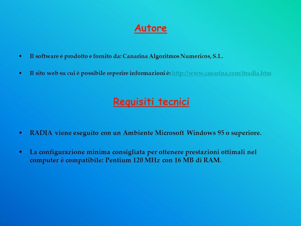 Autore Il software è prodotto e fornito da: Canarina Algoritmos Numericos, S.L.