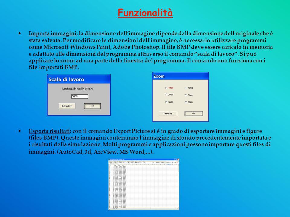 Funzionalità Importa immagini: la dimensione dell'immagine dipende dalla dimensione dell originale che è stata salvata.