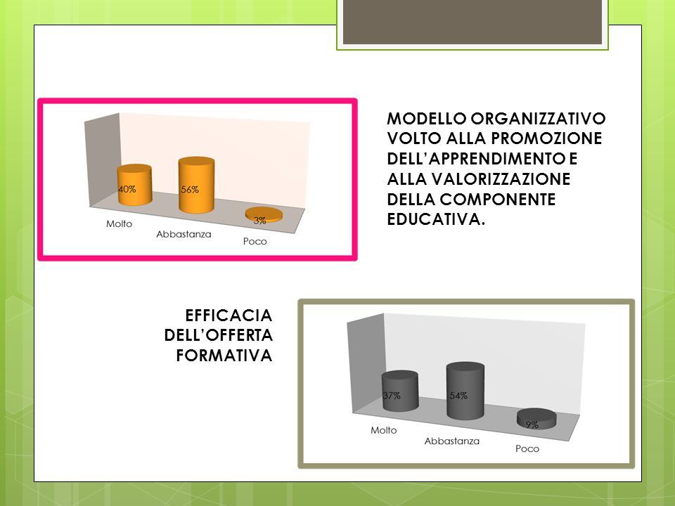 MODELLO ORGANIZZATIVO VOLTO ALLA PROMOZIONE DELL'APPRENDIMENTO E ALLA VALORIZZAZIONE DELLA COMPONENTE EDUCATIVA.