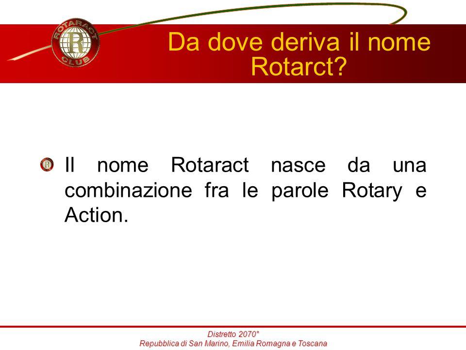 Distretto 2070° Repubblica di San Marino, Emilia Romagna e Toscana Da dove deriva il nome Rotarct.