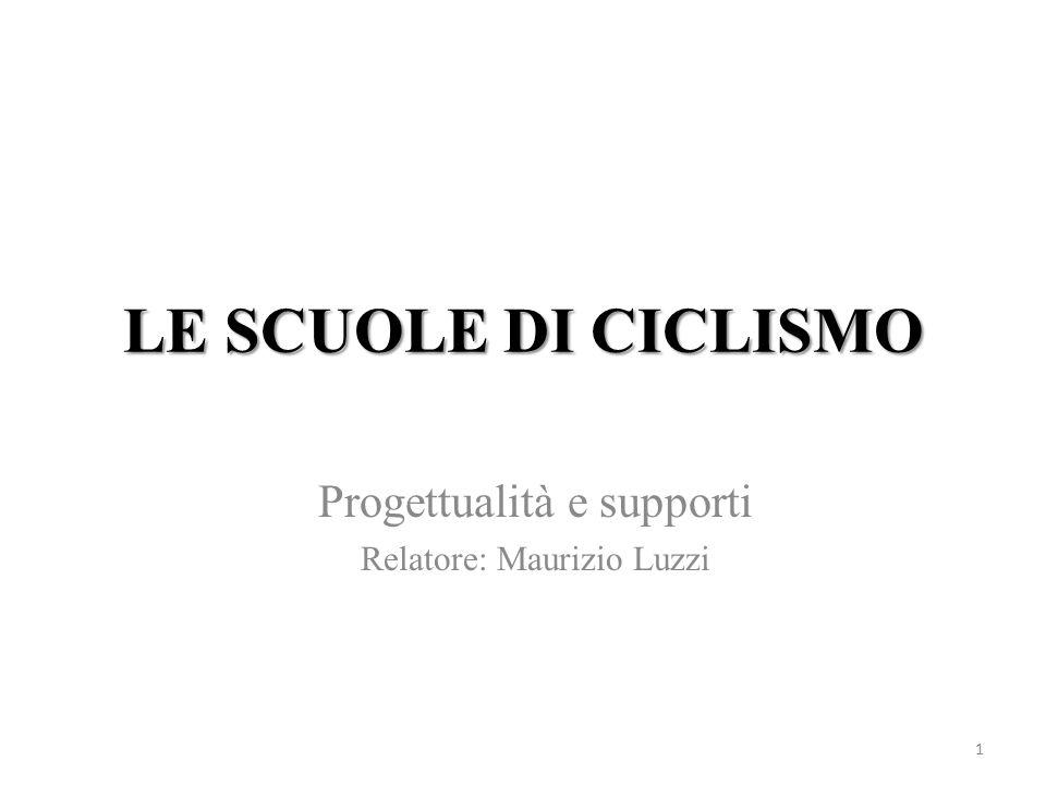LE SCUOLE DI CICLISMO 1 Progettualità e supporti Relatore: Maurizio Luzzi
