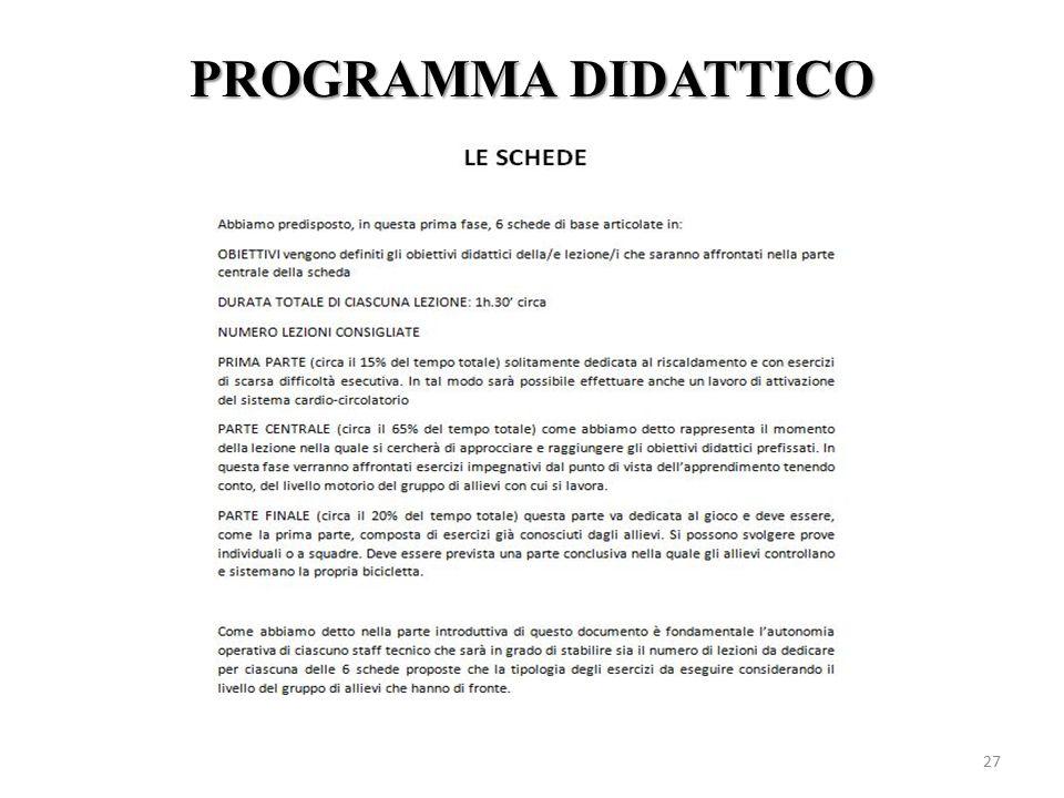 PROGRAMMA DIDATTICO 27