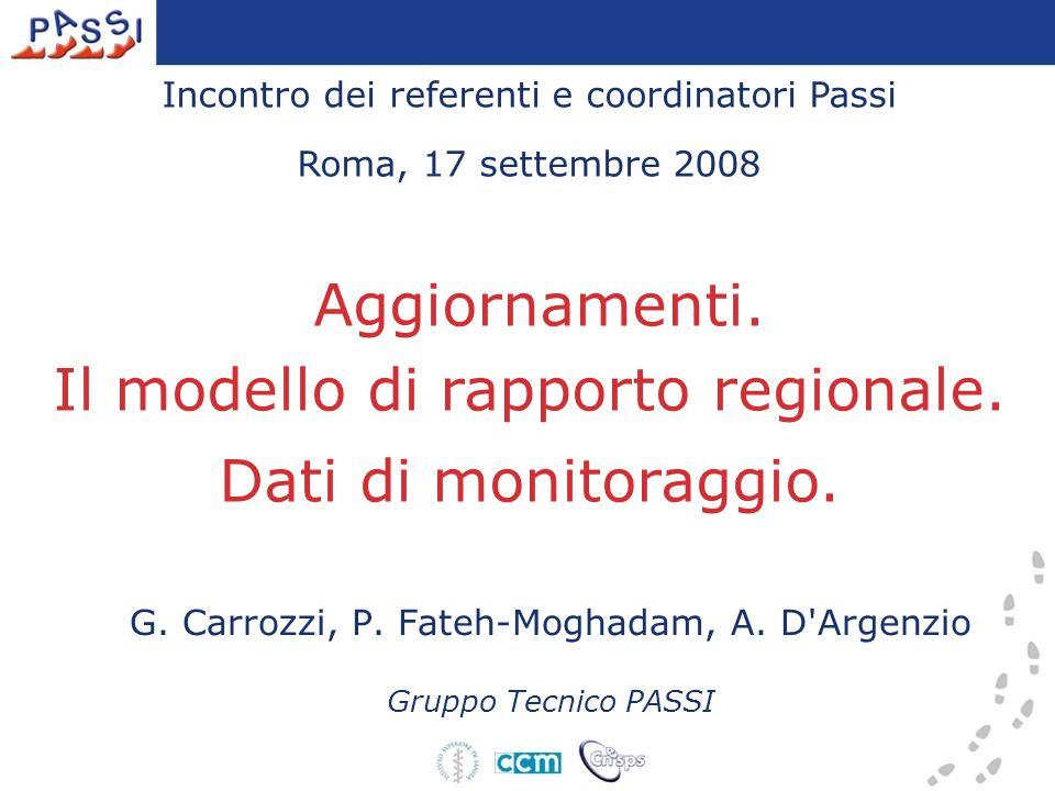 Incontro dei referenti e coordinatori Passi Roma, 17 settembre 2008 Aggiornamenti.